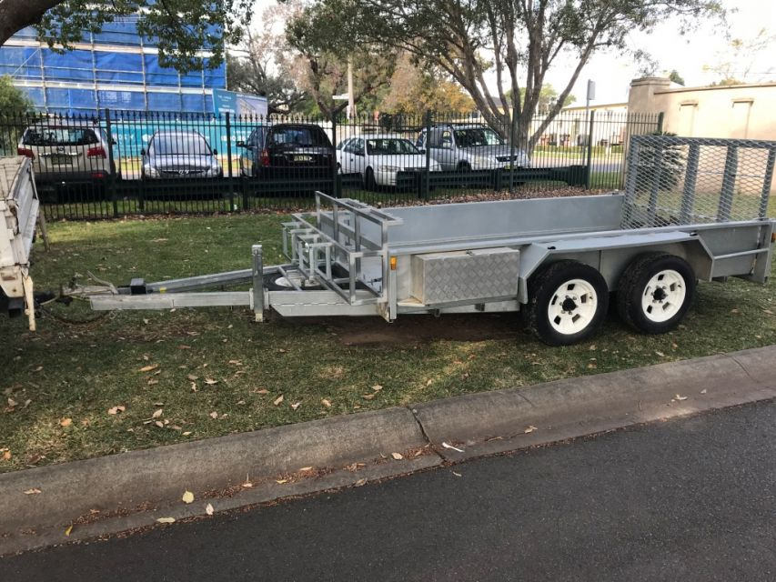 Plant trailer Galvanised AS NEW